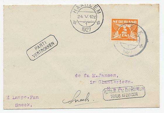 De Duif Sneek.Administratieve Stempels Etiketten Sneek Haarlem 1927 Part
